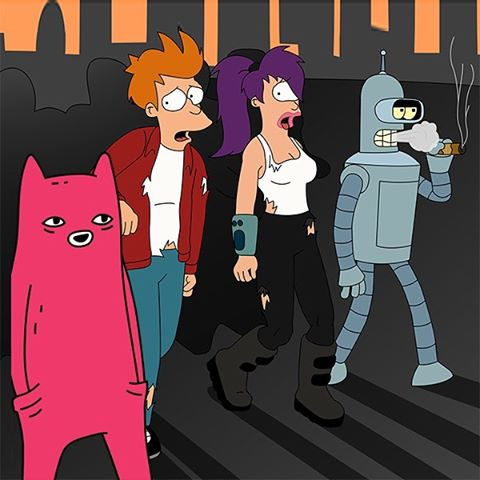 Abel and Futurama cast party