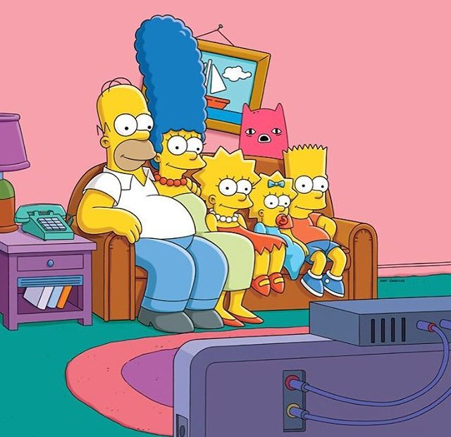 Abel and Simpsons on the couch
