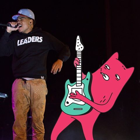 Chance The Rapper and Abel on stage